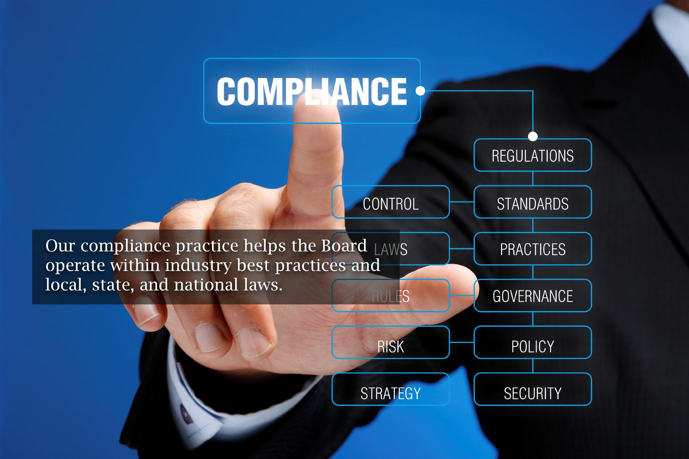 finger selecting compliance for association management